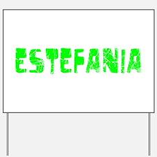 Estefania Faded (Green) Yard Sign