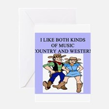 line dancing gifts t-shirts Greeting Card