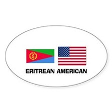 Eritrean American Oval Decal