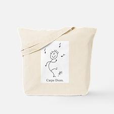 Dancing Smiley Man - Carpe Diem Tote Bag