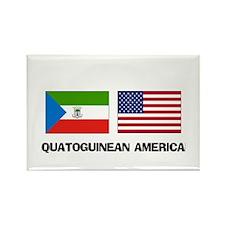 Equatoguinean American Rectangle Magnet