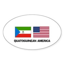 Equatoguinean American Oval Decal