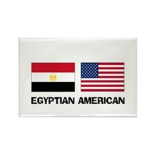 Egyptian American Rectangle Magnet