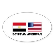 Egyptian American Oval Decal