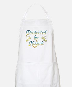 Blue and Yellow Protected by BBQ Apron