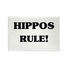 Hippos Rule Rectangle Magnet