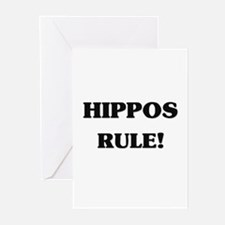 Hippos Rule Greeting Cards (Pk of 10)