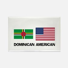 Dominican American Rectangle Magnet