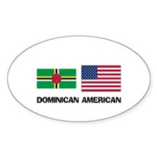 Dominican American Oval Decal