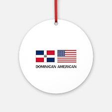 Dominican American Ornament (Round)