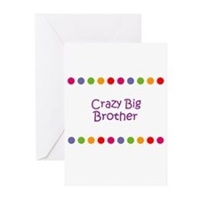 Crazy Big Brother Greeting Cards (Pk of 10)