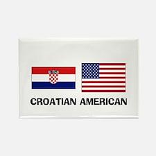 Croatian American Rectangle Magnet
