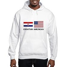 Croatian American Hoodie Sweatshirt