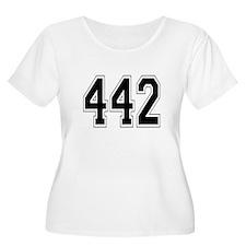 442 Womens Plus-Size Scoop Neck T