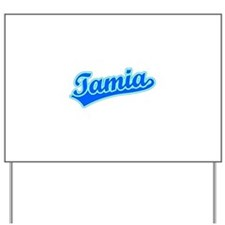 Retro Tamia (Blue) Yard Sign