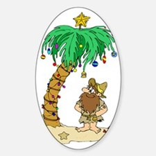Desert Island Christmas Oval Decal