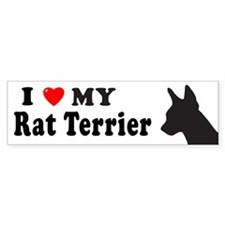 RAT TERRIER Bumper Car Sticker