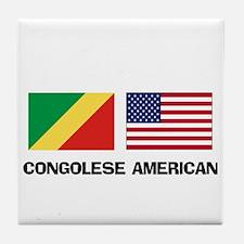 Congolese American Tile Coaster