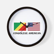 Congolese American Wall Clock