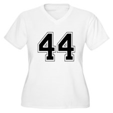44 Womes Plus-Size V-Neck T-Shirt