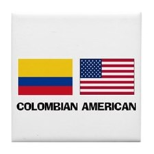 Cute Colombian women Tile Coaster