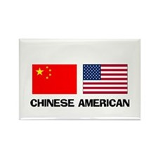 Chinese American Rectangle Magnet