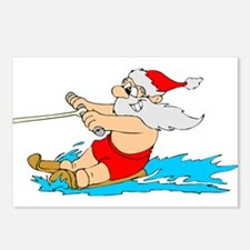 Waterski Santa Postcards (Package of 8)