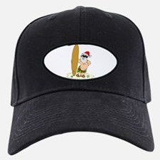 Surfing Santa Baseball Hat