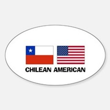Chilean American Oval Decal