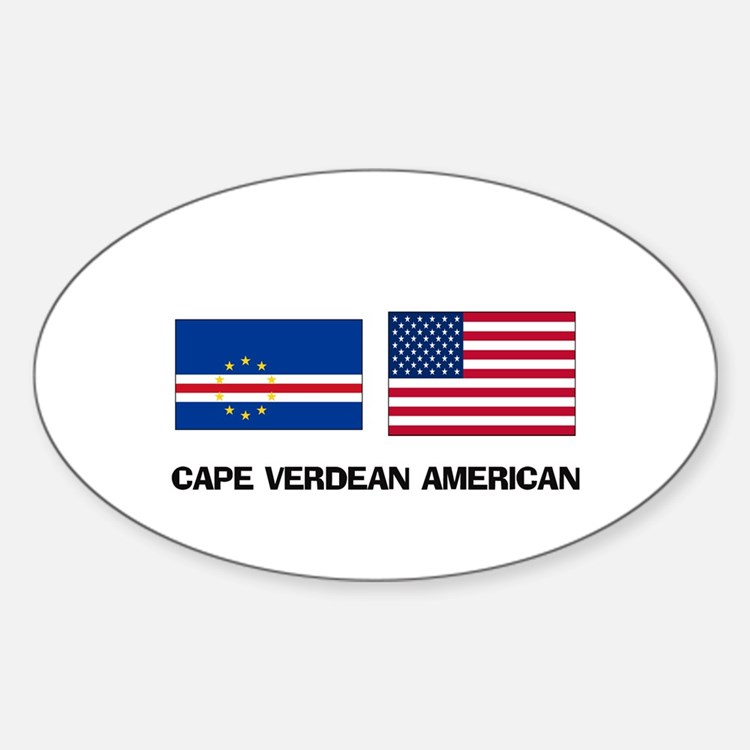 Cape Verdean American Oval Decal