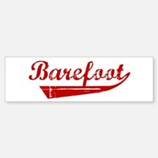 Barefoot (red vintage) Bumper Bumper Bumper Sticker
