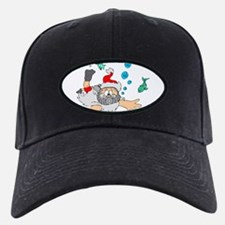 Scuba Diving Santa Baseball Hat