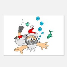 Scuba Diving Santa Postcards (Package of 8)