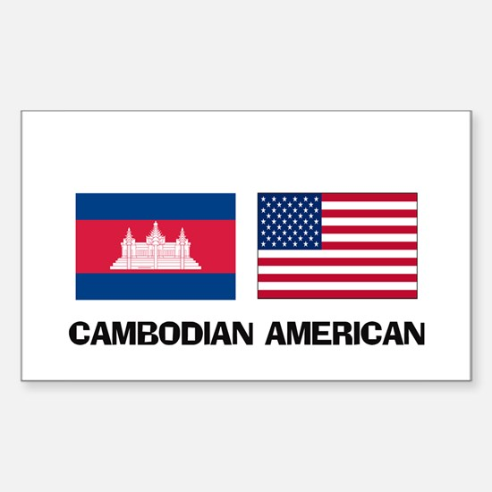 Cambodian American Rectangle Decal