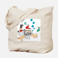 Scuba Diving Santa Tote Bag