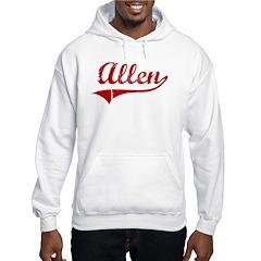 Allen (red vintage) Hooded Sweatshirt