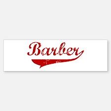 Barber (red vintage) Bumper Bumper Bumper Sticker