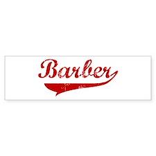 Barber (red vintage) Bumper Stickers