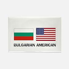 Bulgarian American Rectangle Magnet