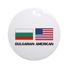 Bulgarian American Ornament (Round)