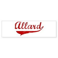 Allard (red vintage) Bumper Bumper Sticker