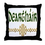 Brother in Gaelic (Knot) Throw Pillow