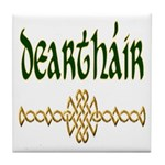 Brother in Gaelic (Knot) Ceramic Tile