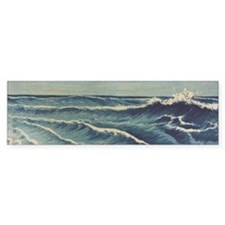 Japan Ocean Waves bumper sticker