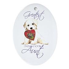 Bichon Aunt Oval Ornament