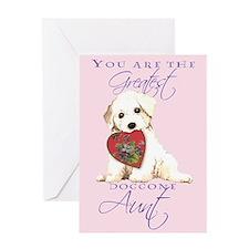 Bichon I Love Aunt Greeting Card