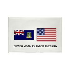 British Virgin Islander American Rectangle Magnet