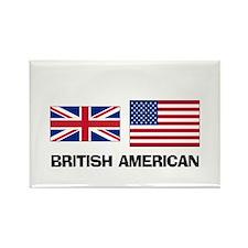 British American Rectangle Magnet