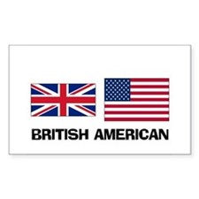 British American Rectangle Decal