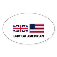 British American Oval Decal